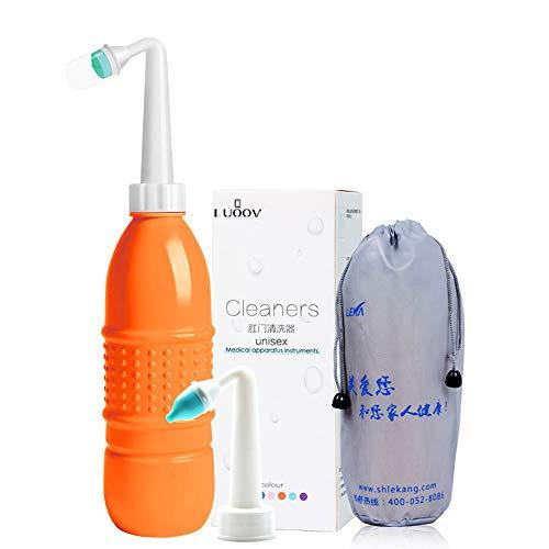 Bidé portátil para inodoro - Pulverizador de bidé de mano - 500 ml bidé de viaje, higiene personal bidé dispositivo de limpieza - con bolsa de almacenamiento, suave