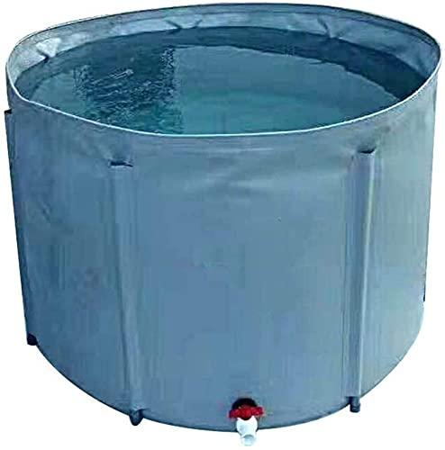 WXking Bolsa de Almacenamiento de Agua de Gran Capacidad, colector de Agua de Lluvia al Aire Libre portátiles domésticos, Cubo Plegable con válvula, para irrigación del jardín/recolección de Agua de
