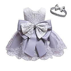 Gray Color Tutu Dress With Rhinestones for Baby