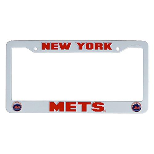 Rico Industries Inc. MLB New York Mets Plastic License Plate Frame - White
