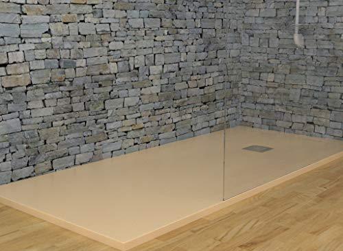 MASAL TECH DESING - Plato de ducha BEIGE 75x190 cm, antideslizante y de fácil colocación.