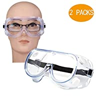 FAREVER Safety Glasses, Protective Safety Goggles Eyewear with Wide-Vision Anti Fog Scratch UV Clear, Soft, Adjustable, Lightweight for Work Medical Construction Nurse Women Men, 1 Pack