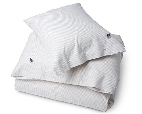 Lexington - Pin Point - Bettwäsche, Kopfkissen, Kissenbezug - Farbe: Beige, Weiß - Maße: 40 x 80 cm - Baumwolle