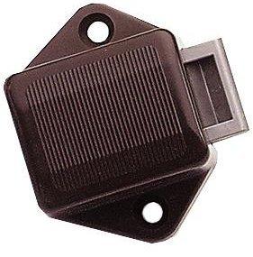 Brunner 250/510 Serrure Mini Push-Lock sous Blister Marron 15 mm