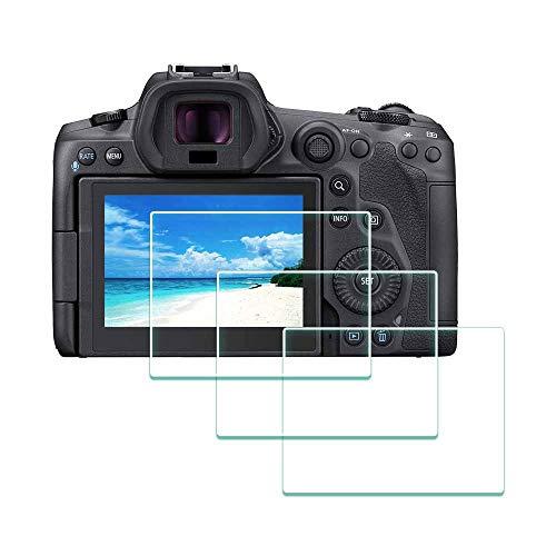 Bildschirmschutzfolie für Canon EOS R5 Kamera, ULBTER 9H EOS R5 gehärtetes Glas, Bildschirmschutzfolie von Kante zu Kante, Anti-Kratzen, Anti-Fingerabdruck, blasenfrei, 3 Stück