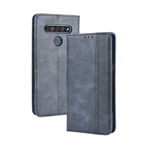 LAGUI Kompatible für LG K41S Hülle, Leder Flip Hülle Schutzhülle für Handy mit Kartenfach Stand & Magnet Funktion als Brieftasche, schwarz