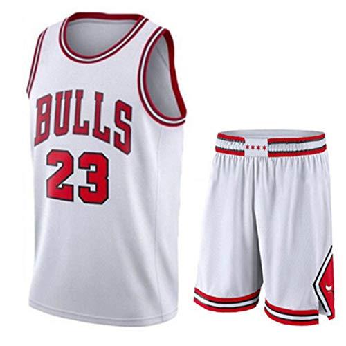 Camisetas de Baloncesto Hombre Maillots de Baloncesto Resistente al Desgaste Bulls 23# Jordan Chaleco Top Verano+Pantalones Cortos Deportivos
