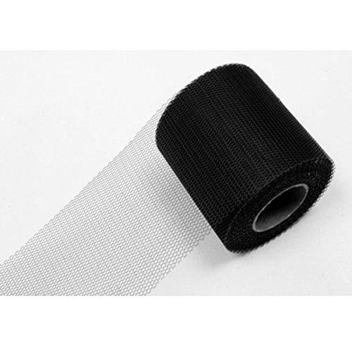Visiodirect Rouleau de Tulle Uni Coloris Noir - 8 cm x 20 m