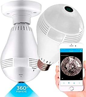 Câmera IP Wifi Lâmpada e27 Áudio HD 360 Dia Noite Hardfast HF01, Segurança Espião