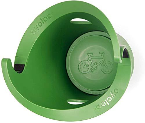 Cycloc Solo - Elegant Wall Mount Bike Storage Rack (Green)