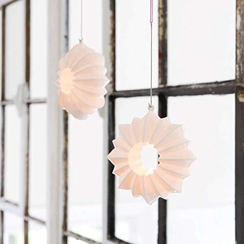 Kähler Stella Teelichthalter, Keramik, Weiß, 13,5 x 13,5 x 12,5 cm