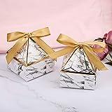 yzcx 50 pz scatoline portaconfetti scatole regalo bomboniere per matrimonio anniversario battesimo laurea natale (forma diamante)