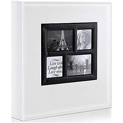 Cheap Benjia Photo Album 1000 Pockets 6x4 Photos Extra Large Size Leather Cover Slip In Wedding Family Photo Albums That Holds 1000 6x4 10x15cm Photos White Compare Prices For
