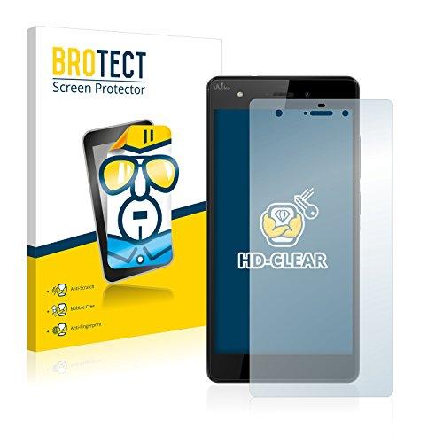 BROTECT Schutzfolie kompatibel mit Wiko Pulp 4G (2 Stück) klare Bildschirmschutz-Folie
