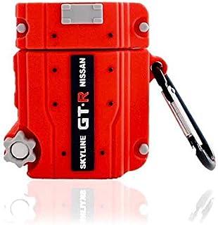 JDMTuning Skyline GTR RB26 Schutzhülle für Apple Airpods Motor, Silikon, für kabelloses Laden der 1. und 2. Generation