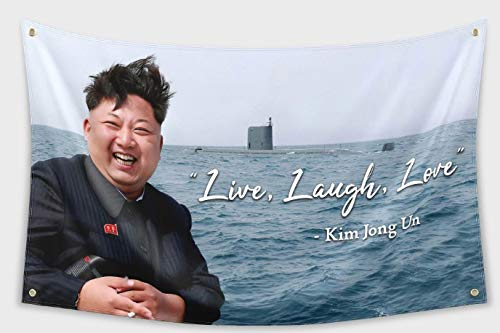 Toppest Kim Jong Un Live, Laugh, Love Flag 3x5ft Banner College Dorm