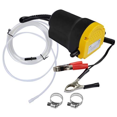 QLOUNI Pompa estrattore dell'olio di 12V 60W Pompa di Trasferimento Diesel, Pompa di trasferimento del combustibile di aspirazione di Olio 2L/min e Tubi per l'automobile Automobile Motorbike