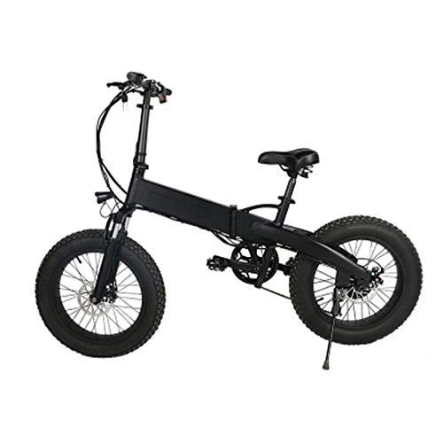Jun Bicicleta De Ciudad Eléctrica Plegable De Aleación De Aluminio De 20 Pulgadas 48V350W, Moto De Nieve (Batería De Litio Móvil) Bicicleta De Montaña para Adultos