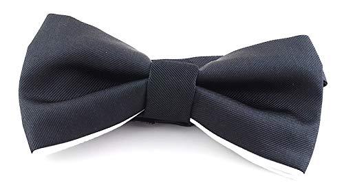 HUGO Pajarita Soie 100% Black 50274168 Bow Tie