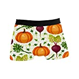 Beautiful Vegetables Beet Pumpkin Mens Boxer Brief Shorts Underwear Breathable Stretchy Swim Trunks Gifts for Youth Boys