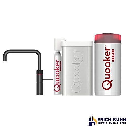 Fusion Square Quooker Reservoirs Combi und Cube Sofort-Kochend-Wasserhahn (schwarz)