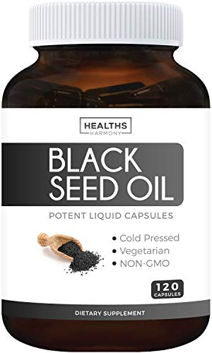 Black Seed Oil - 120 Softgel Capsules (Non-GMO & Vegetarian) Premium Cold-Pressed Nigella Sativa...
