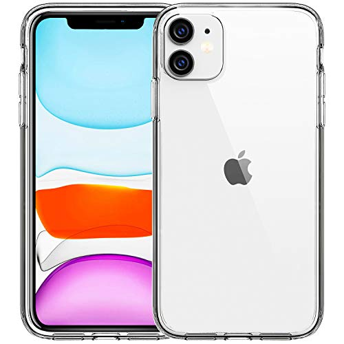 FanTEK Compitable for iPhone 11 Case, Clear Crystal TPU Phone Cases for iPhone 11 6.1 Inch