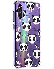 Oihxse Cristal Compatible con ASUS ZenFone MAX Pro M2 ZB631KL Funda Ultra-Delgado Silicona TPU Suave Protector Estuche Creativa Patrón Panda Protector Anti-Choque Carcasa Cover(Panda A9)