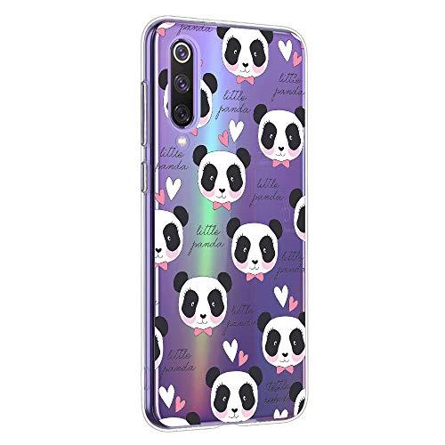 Oihxse Cristal Compatible con OPPO Realme 5 Pro/Realme Q Funda Ultra-Delgado Silicona TPU Suave Protector Estuche Creativa Patrón Panda Protector Anti-Choque Carcasa Cover(Panda A9) ⭐