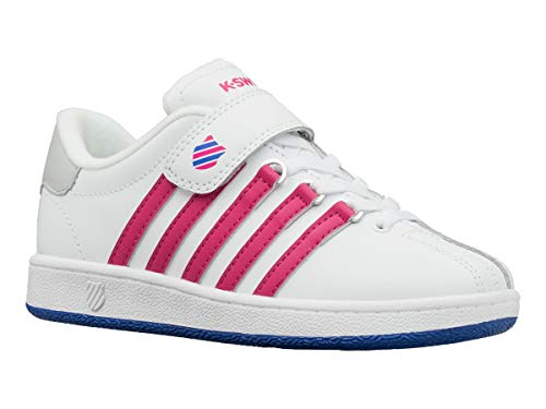 K-Swiss Unisex Classic VN VLC Sneaker, White/Beetroot for sale  Delivered anywhere in UK