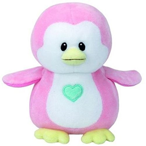 TY T32156 Pink Penguin Baby Plüsch-Penny Pinguin, 17 cm, rosa