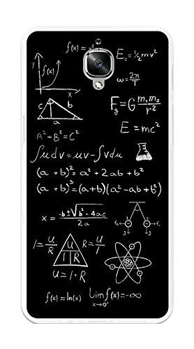 Tumundosmartphone Funda Gel TPU para ONEPLUS 3 / 3T diseño Formulas Dibujos