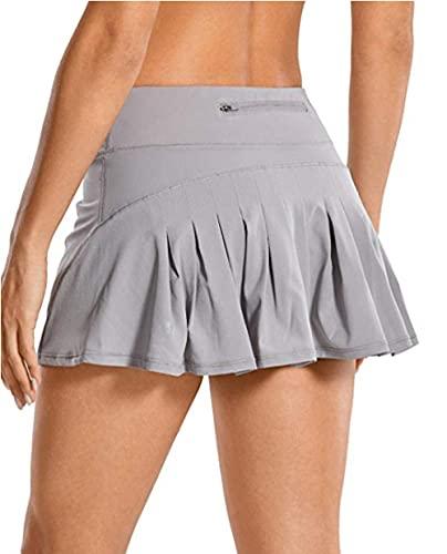 BUXIANGGAN Shorts Pantalones Cortos Mujer Pantalones Cortos Deportivos De Cintura Alta para Mujer Tenis Correr Gimnasio Entrenamiento Pantalones Cortos Deportivos-Gris_S