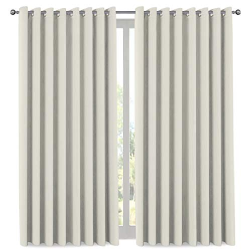 Extra Long and Wide Blackout Curtains, Thermal Insulated Premium Privacy Room Divider Window Treatment Drapes, 7' Tall by 8.5' Wide - Grommet Wider Curtain Large Size 100