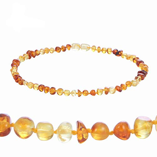 ETWJ Collar de ámbar natural de coñac para bebé adulto barroco ámbar báltico perlas joyería collar de piedra natural proveedor 7 colores diseño 1-55cm collar adulto