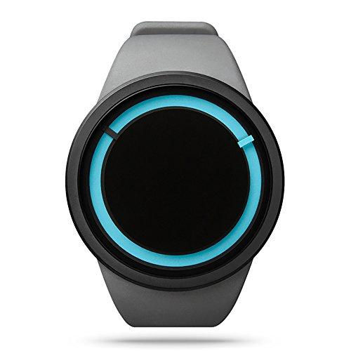 zhuolei ZIIIRO Eclipse Dream Concept Modische quaetz Bewegung Armbanduhr für Damen und Herren Offizielles Berechtigung, Sillicon-Grey
