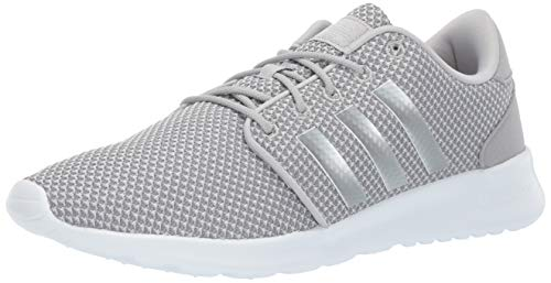 adidas Women's CloudfoamQT Racer Xpressive-Contemporary CloudfoamRunning Sneakers Shoes, light granite/silver metallic/grey, 10 M US