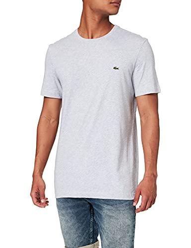 Lacoste Herren T-Shirt TH2038-00 Einfarbig, Grau (SILVER CHINE CCA), Gr. 6 (Herstellergröße: XL)