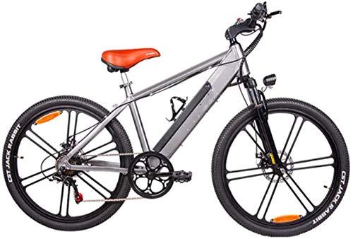 RDJM Bici electrica, 26 Pulgadas Bicicletas eléctricas de Bicicletas, Bicicletas de montaña 48V10A 350W de aleación de Aluminio for Adultos Ciclismo Deportes al Aire Libre (Color : Gray)