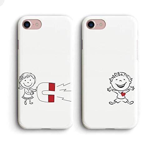 Shark Captured My Heart Best Friends Style/Boyfriend&Girlfriend/His and Hers/Matching Couple Cases for (BOY:iPhone 6 Plus)