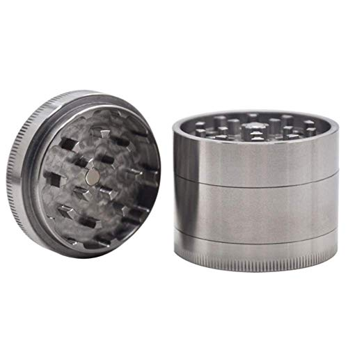 Pure Stainless Steel Herb Grinder, 47Mm Diameter Four-Layer High-Grade Grinding Machine, with Pollen Scraper, for…