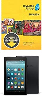 Rosetta Stone English (American) Level 1-5 Set for Mac [Download] and Fire 7 Tablet with Alexa, 7