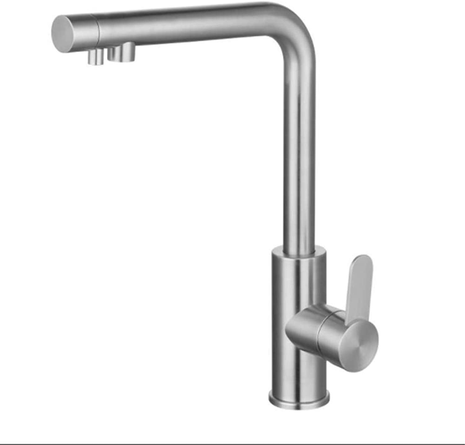 Kitchen Taps Faucetmodern Kitchen Sink Tapsstainless Steelmultifunctional Lead-Free 304 Stainless Steel Kitchen Pure Water Cold Hot Faucet