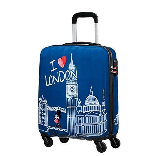 American Tourister Disney Legends - Spinner S Valigia per Bambini, S (55 cm - 36 L), Blu (Take Me Away Mickey London)