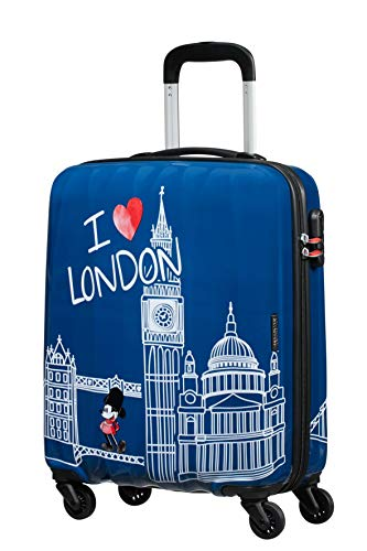 American Tourister Disney Legends - Spinner S Valigia per Bambini, S (55 cm - 36 L), Blu (Take Me Away Mickey London)