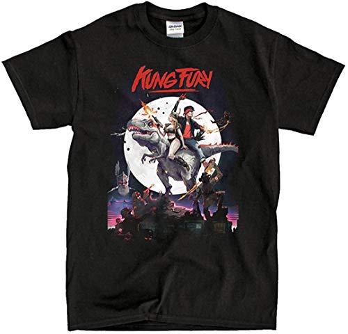 Hot Chrome Mens Kung Fury Dino Mens T-Shirt