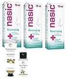 Nasic Nasenspray 3 x 15 ml Sparset - inkl. einer pflegenden Handcreme o. Duschbad von Pharma Nature (Apotheken-Express)