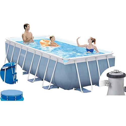 Priority Culture Aufblasbarer Pool Kinderpool Swim-Center,Rahmen Schwimmbad, Großes Rechteckiges Planschbecken Für Erwachsene Für Den Hausgebrauch, Ocean Ball Pool Für Kinder Im Freien (Size : 13ft)