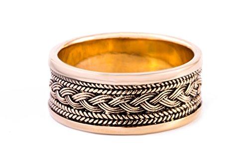 Windalf Wikinger-Ring BALDUR h: 1 cm Wikingerknoten Hochwertige Bronze (Bronze, 58 (18.5))