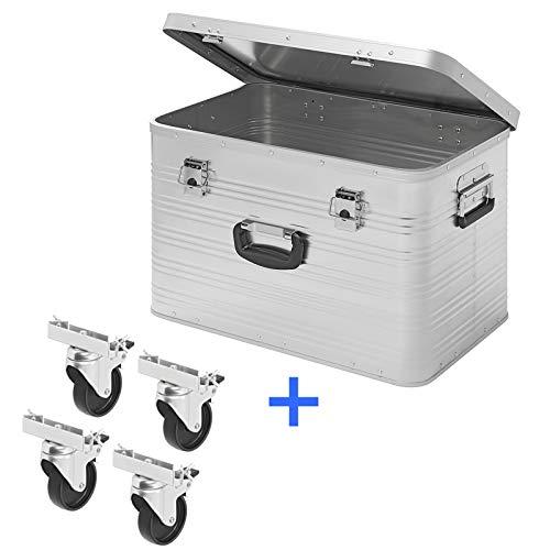 Aluminium kist, 65 liter, transportkist, aluminium gereedschapskist, aluminium box, aluminium koffer, metaal